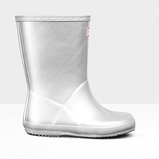 Hunter Original Little Kid's First Metal Rain Boots Silver