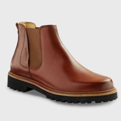Samuel Hubbard Women's 24 Seven Leather Chelsea Boot Whiskey Tan Leather/Black Sole