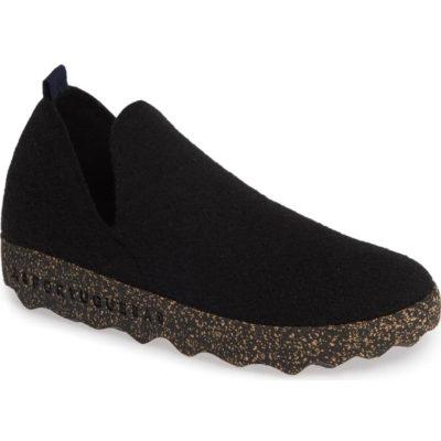 Fly London Women's Asportuguesas City Sneaker Black Tweed/Felt Fabric