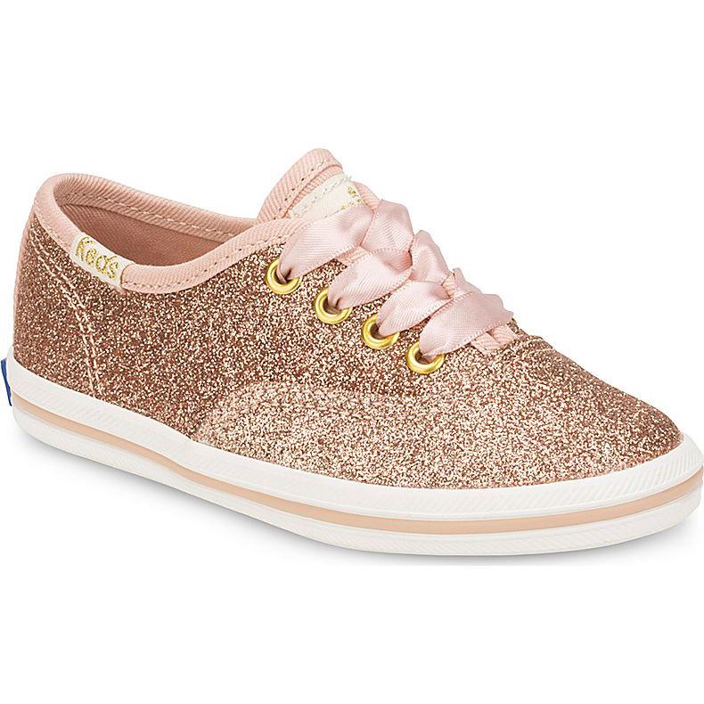 a1b3d721e1e Keds Little Kid X Kate Spade New York Champion Glitter Sneaker Rose Gold