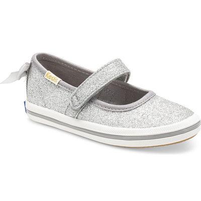 Keds Kid X Kate Spade New York Champion Mary Jane Glitter Sneaker Silver