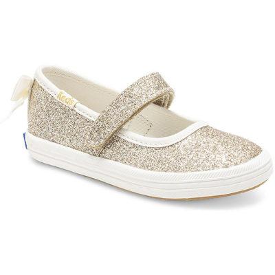 Keds Kid X Kate Spade New York Sloan Mary Jane Glitter Sneaker Gold