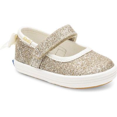 Keds Little Kid X Kate Spade New York Sloan Mary Jane Glitter Crib Sneaker Gold
