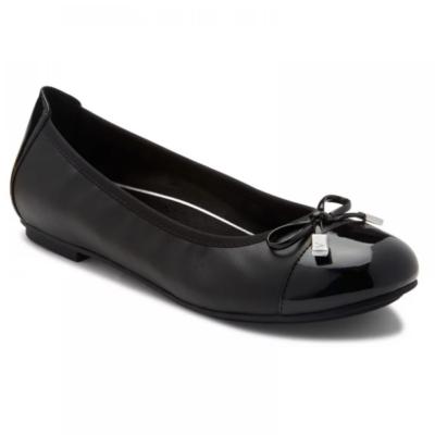 Vionic Women's Minna Ballet Flats Onyx Leather