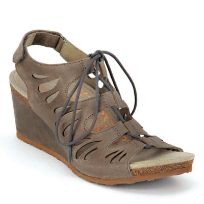 Aetrex Women's Giselle Ghillie Tie Sandal Stone