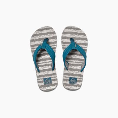 Reef Kid's Ahi Sandal Grey Ocean