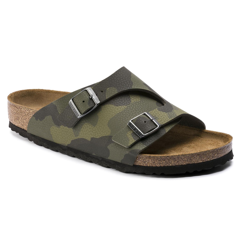 92622ff083 Birkenstock Men s Zurich Soft-Footbed Birko-Flor Desert Soil Camouflage  Green