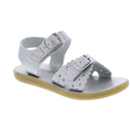 Footmates Kid's Ariel Silver Sandal