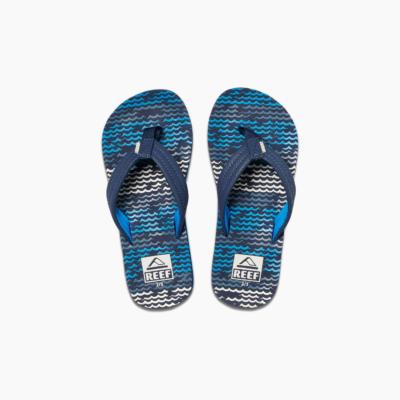 Reef Kid's Ahi Sandal Blue Horizon Waves