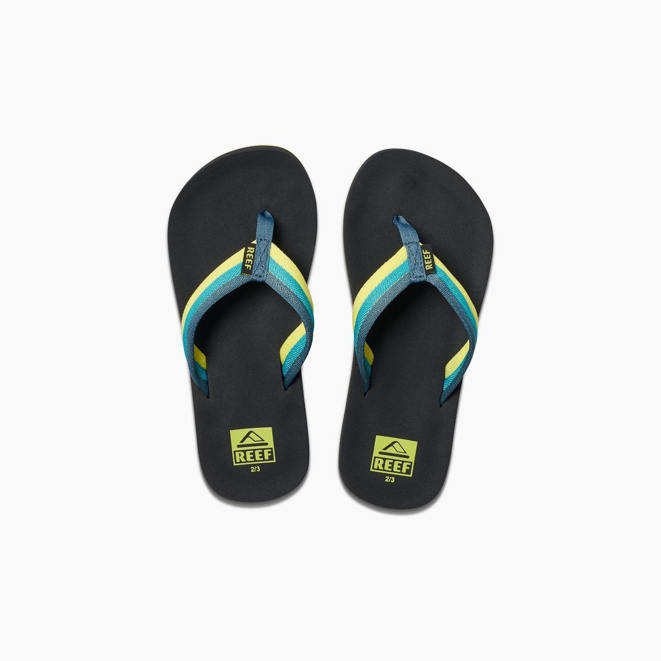 ebeebd1d557a Reef Kid s Ahi Beach Sandal Blue Green