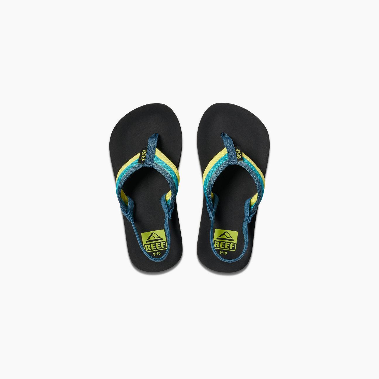 c7ead6706b4c Reef Little Kid s Ahi Beach Sandal Blue Green