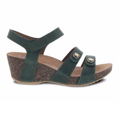 Dansko Women's Savannah Sandal Waxy Burnished Green