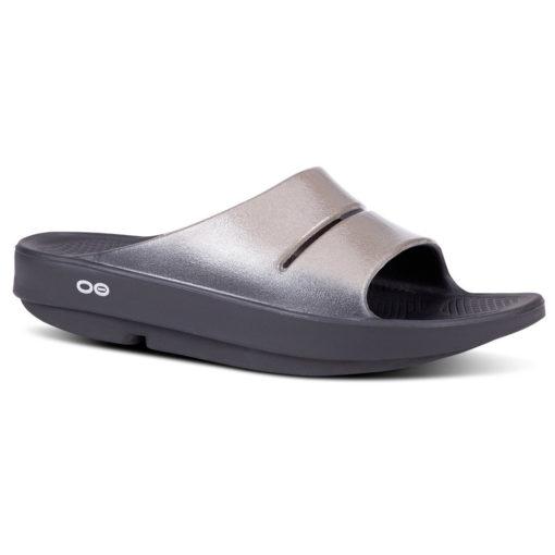 Oofos OOahh Luxe Slide Sandal Latte
