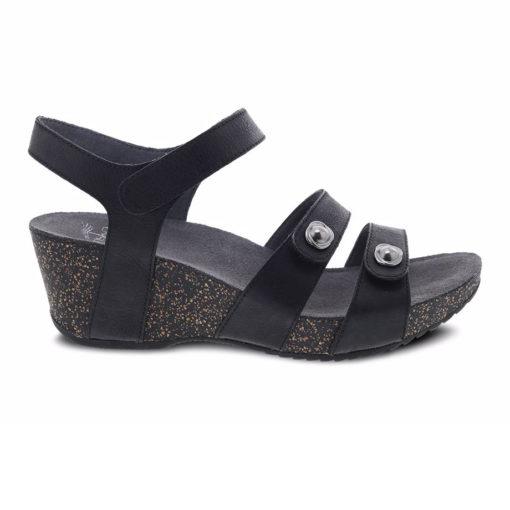Dansko Women's Savannah Sandal Waxy Burnished Black
