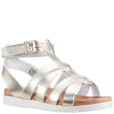 Nina Kid's Alpha Sandal Platino Metallic
