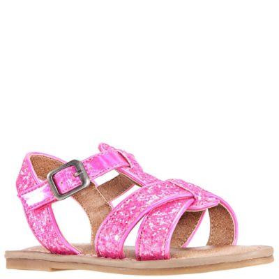 Nina Kid's Bernice T-Strap Sandal Pink Glitter