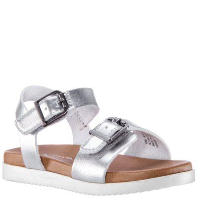 Nina Kid's Jacklin3 Sandal Silver Metallic Tumbled