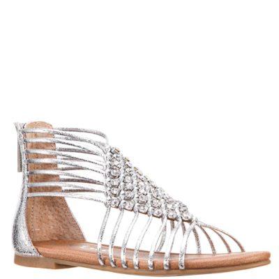 Nina Kid's Karlee Sandal Silver Metallic