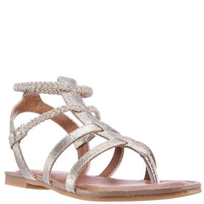 Nina Kid's Margaree Sandal Platino Metallic