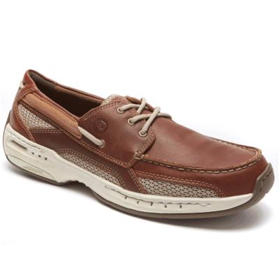 Dunham Men's Captain Boat Shoe Brown Leather