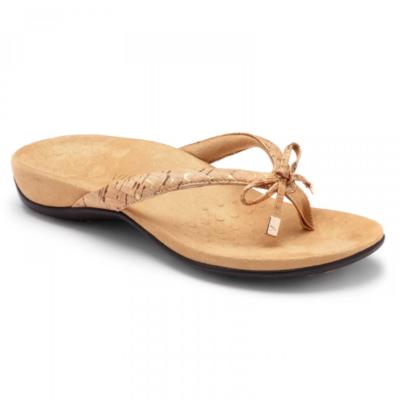 Vionic Women's Bella II Toe-Post Sandal Gold Cork