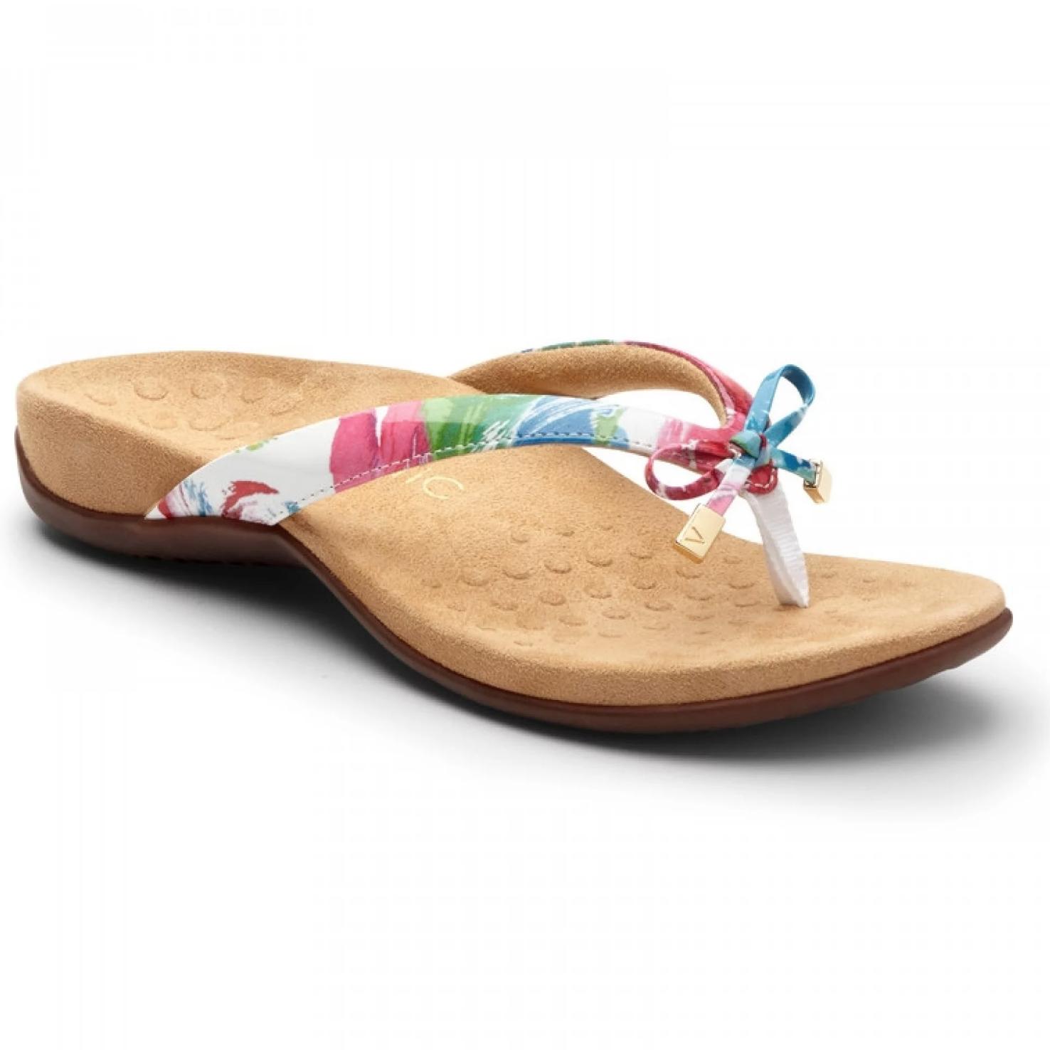 1e56934aeab Vionic Women s Bella II Toe-Post Sandal White Floral