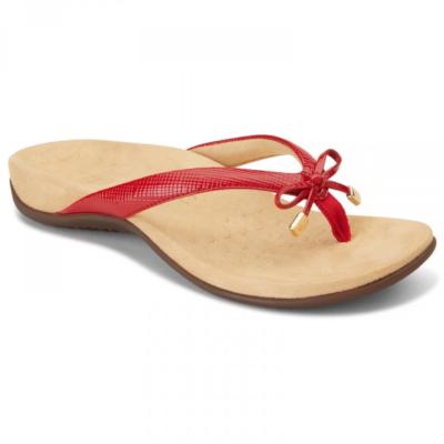 Vionic Women's Bella II Toe-Post Sandal Red Lizard