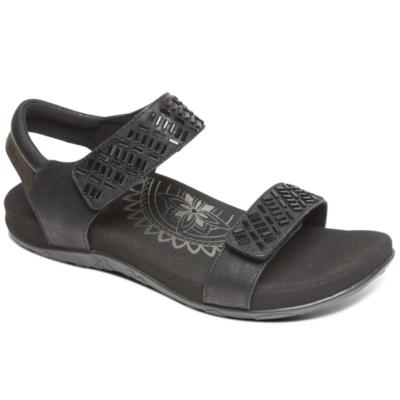 Aetrex Women's Marcy Quarter Strap Sandal Black