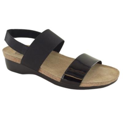 Munro Women's Pisces Sandal Black Patent/Fabric