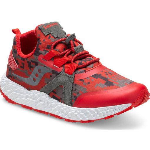 Saucony Kid's Voxel 9000 Sneaker Red/Grey