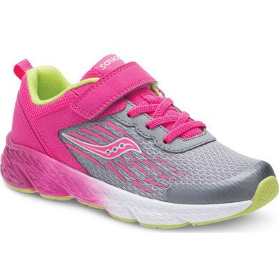 Saucony Kid's Wind A/C Sneaker Grey/Pink