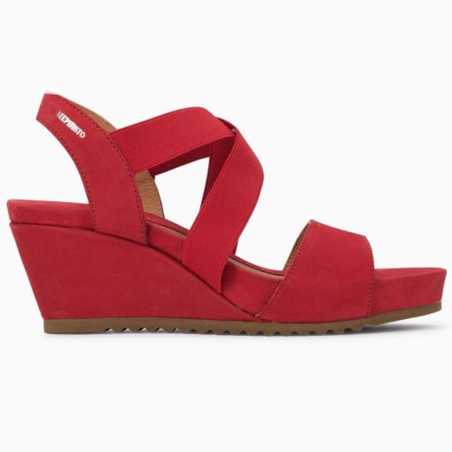 Mephisto Women's Giuliana Wedge Sandal Red