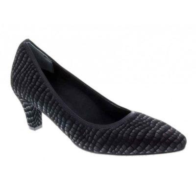 Ros Hommerson Women's Karat Pump Black Croc Leather