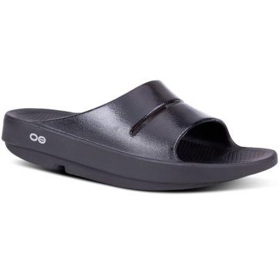 Oofos OOahh Luxe Slide Sandal Black