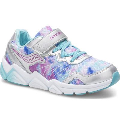 Saucony Kid's Flash A/C Sneaker Silver Multi
