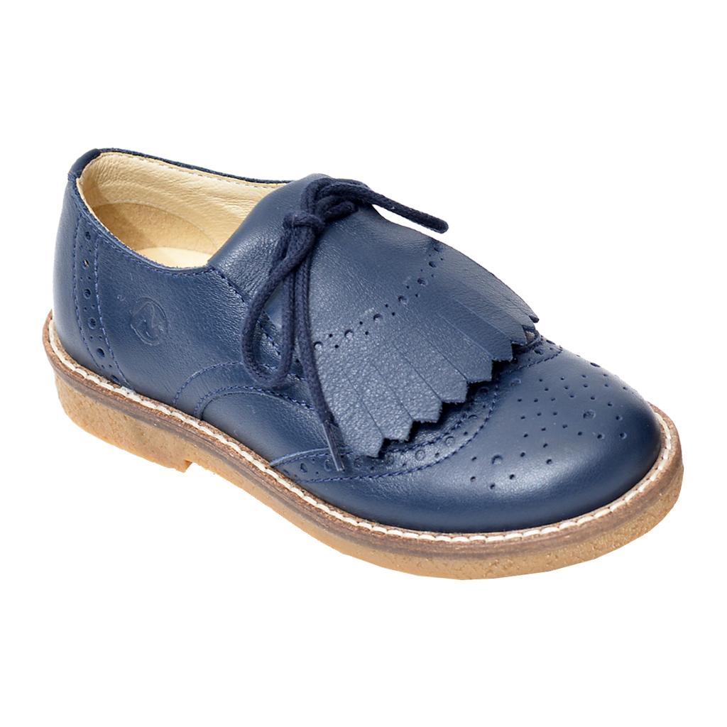 Naturino Little Kid's Brogue Blue Leather