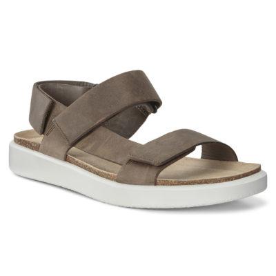 ECCO Men's Corksphere Sandal Flat Tarmac Leather