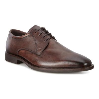 ECCO Men's Calcan Shoe Cocoa Brown Leather