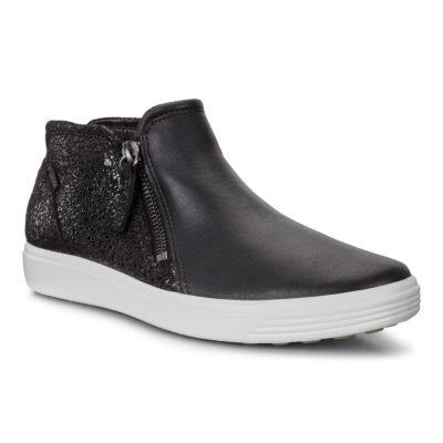 ECCO Women's Soft 7 Low Bootie Black Leather