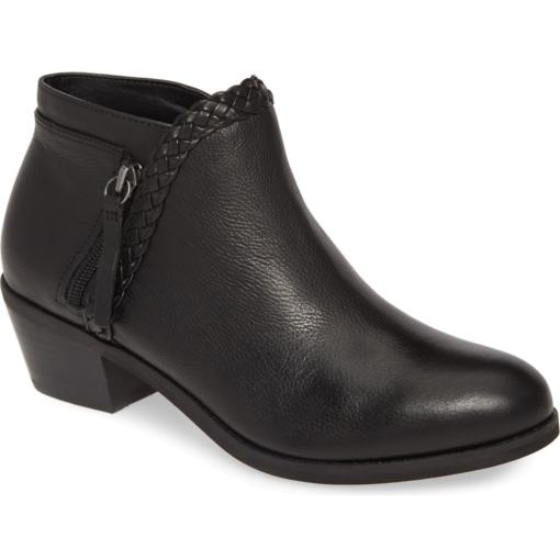 Aetrex Women's Mariana Bootie Black Leather