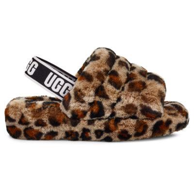 UGG Women's Fluff Yeah Slide Leopard