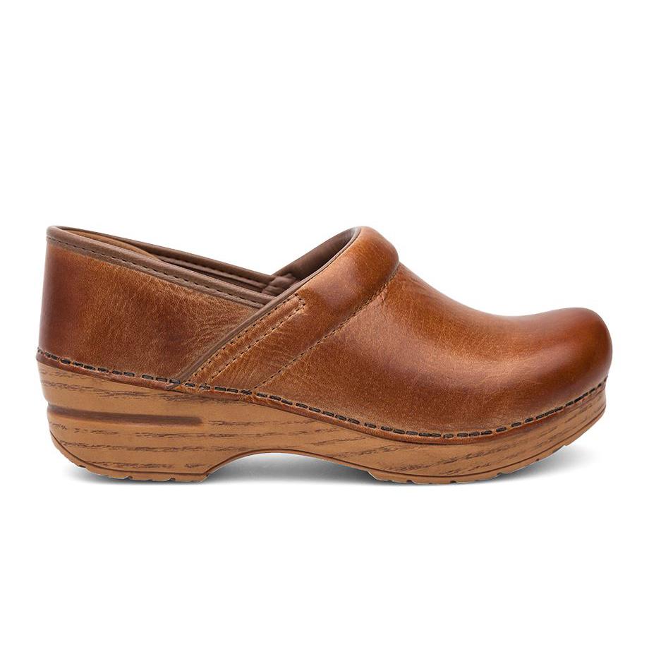 503ce654cb01e Dansko Women's Professional Clog Honey Distressed Leather