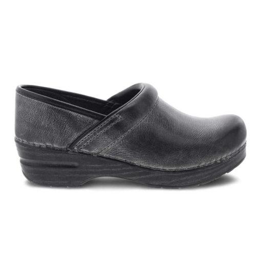 Dansko Women's Professional Clog Charcoal Distressed Leather