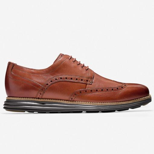 Cole Haan Men's Original Grand Wingtip Oxford Woodbury-Java Leather