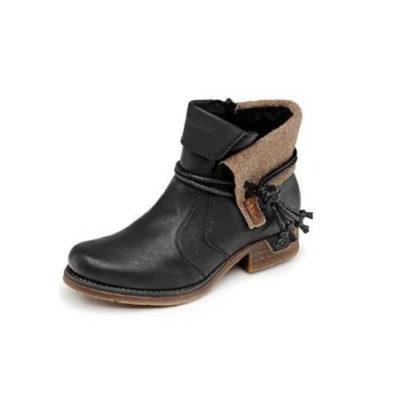 Rieker Women's 79693-00 Boot Black Leather