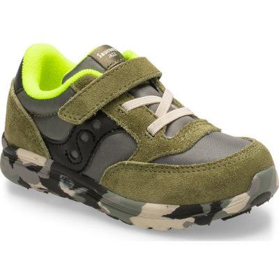 Saucony Kid's Baby Jazz Lite Sneaker Olive Camo
