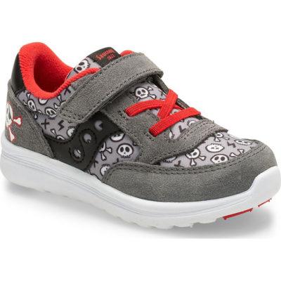 Saucony Kid's Baby Jazz Lite Sneaker Grey/Red Pirate