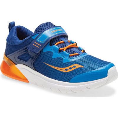 Saucony Kid's Flash Glow A/C Sneaker Blue/Orange
