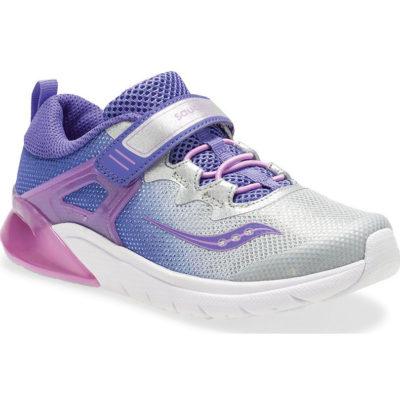 Saucony Kid's Flash Glow A/C Sneaker Purple/Silver
