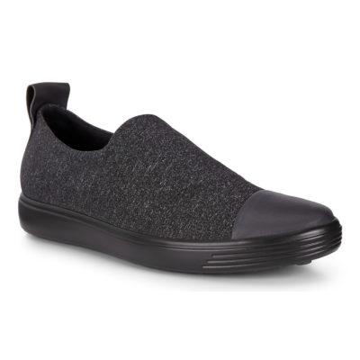 ECCO Women's Soft 7 W Slip-On Sneaker Black/Grey
